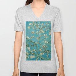 Almond Blossom by Vincent van Gogh, 1890 Unisex V-Neck