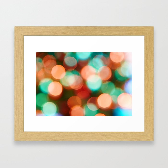 Abstract holiday background Framed Art Print