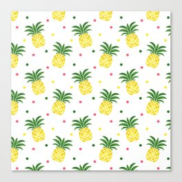COLORFUL PINEAPPLES Canvas Print