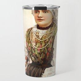 Romanian Gypsy girl Travel Mug