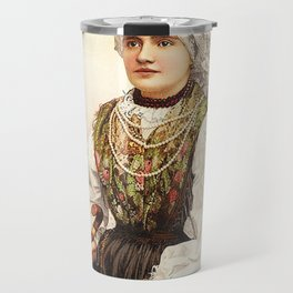 Romanian Gypsy girl Travel Mug