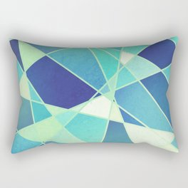 STAINED GLASS WINDOW BLUE Rectangular Pillow