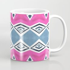 Geo Triangle Pink Navy 2 Coffee Mug