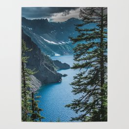 Blue Crater Lake Oregon in Summer Poster