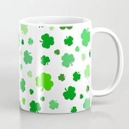 Green Shamrock Pattern Coffee Mug