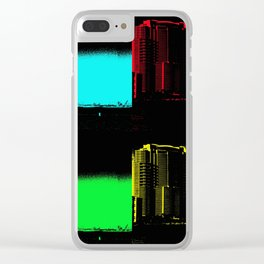 Miami Popart Panorama Clear iPhone Case