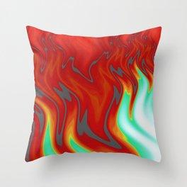 Blue Flame Burning Throw Pillow