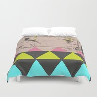 grafitti Duvet Covers featuring Graffiti by Bunhugger Design