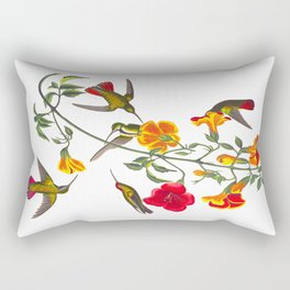 Mango Hummingbird Rectangular Pillow