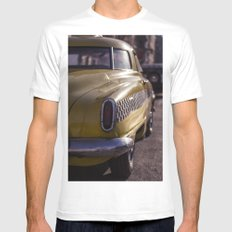 A Yellow Cab  MEDIUM White Mens Fitted Tee