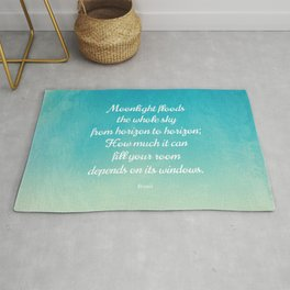 Moonlight Floods the Whole Sky - Beautiful Quote by Rumi Rug