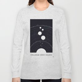 Stellarum Ordo Solaris: A map of our Solar system Long Sleeve T-shirt