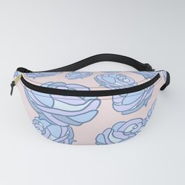 Blue Roses Forest Pink Sky Fanny Pack
