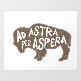 Ad Astra Per Aspera Art Print