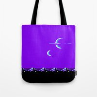 saturn Tote Bags featuring Saturn by noirlac