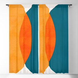 Mid Century Eclipse / Abstract Geometric Blackout Curtain