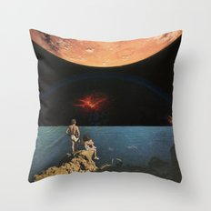 The oceans below and the universe above Throw Pillow