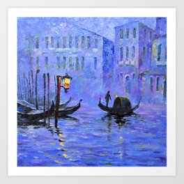Lilac Night Art Print
