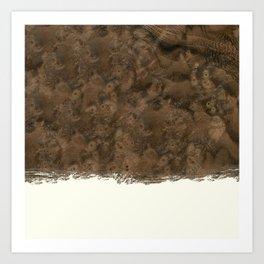 Dipped Wood - Walnut Burl Art Print