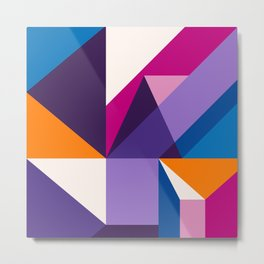 Abstract modern geometric background. Composition 5 Metal Print