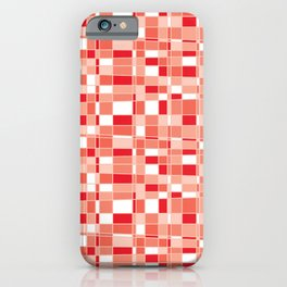 Mod Gingham - Red iPhone Case