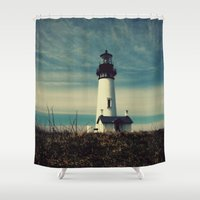lighthouse Shower Curtains featuring Lighthouse by Yellowstone Photo Studio