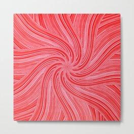 Red and Pink Pinwheel Metal Print