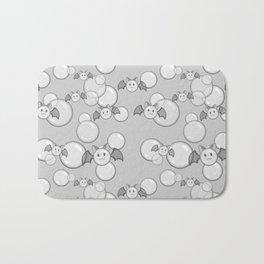 Bubbles and Bats Grey Bath Mat