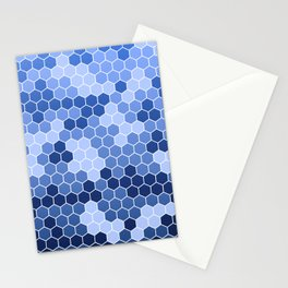 Honeycomb Blue Pattern   Geometric Shapes   Home Decor   Sapphire   For Him   For Her Stationery Cards