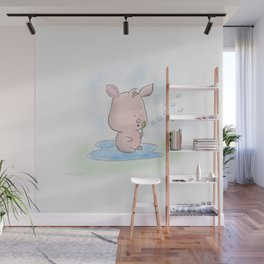 Blowing Bubbles Wall Mural