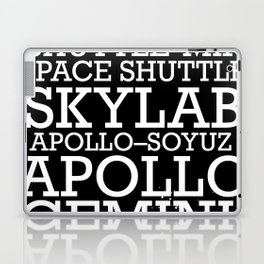 Manned Space Missions print. Laptop & iPad Skin