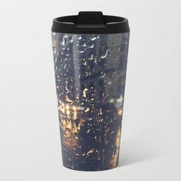 Raindrops Metal Travel Mug
