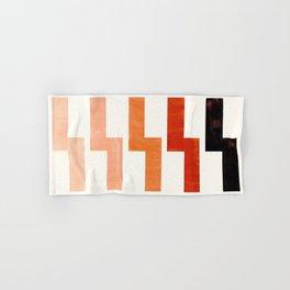 Burnt Sienna, Watercolor, Gouache, Painting, Geometric, Zig zag, Lightning Bolt, Pattern Hand & Bath Towel