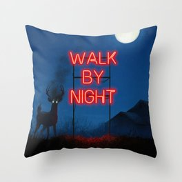 Walk by Night Throw Pillow