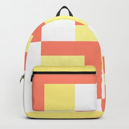 Squares Yellow + Salmon Backpack