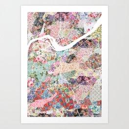 Louisville map portrait Art Print