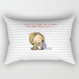 """Tra le righe"" Rectangular Pillow"