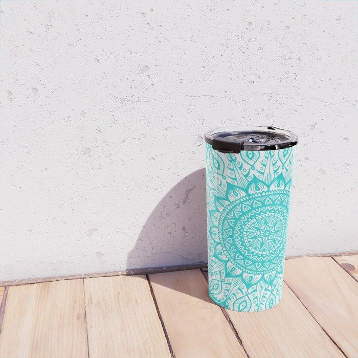 Mistletoe-Blue Travel Mug