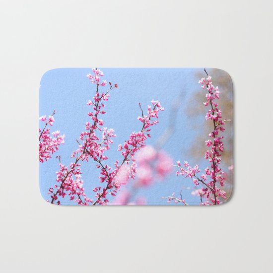 Spring in pink Bath Mat