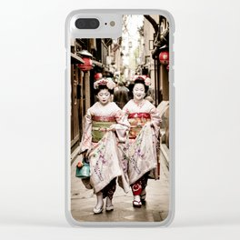 Kyoto Maiko Clear iPhone Case