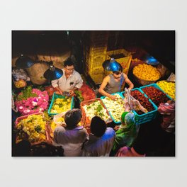 Mumbai Flower Market Canvas Print