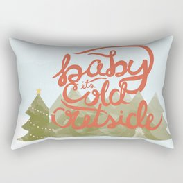 Baby it's Cold Outside Illustration Rectangular Pillow