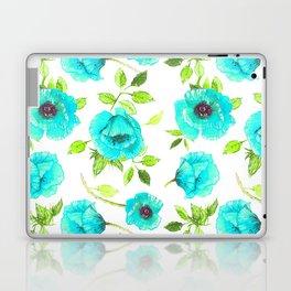 Aqua poppy Laptop & iPad Skin