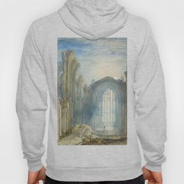 Melrose Abbey by William Turner Hoody