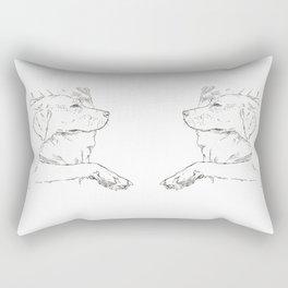 conversations at 10:31 p.m. Rectangular Pillow