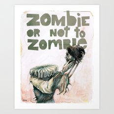 Zombie + Shakespeare Art Print