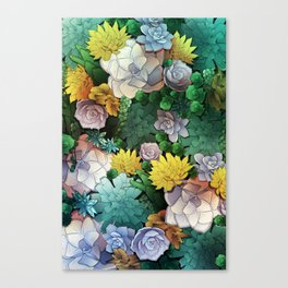 Succulent World Canvas Print