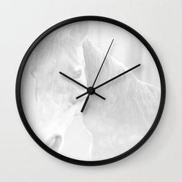 Island Horse - Soft Grey Wall Clock