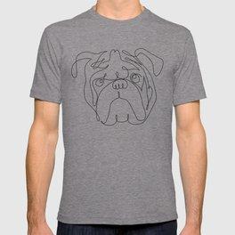 One Line English Bulldog T-shirt