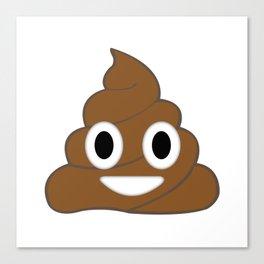 Emoji Poop Canvas Print